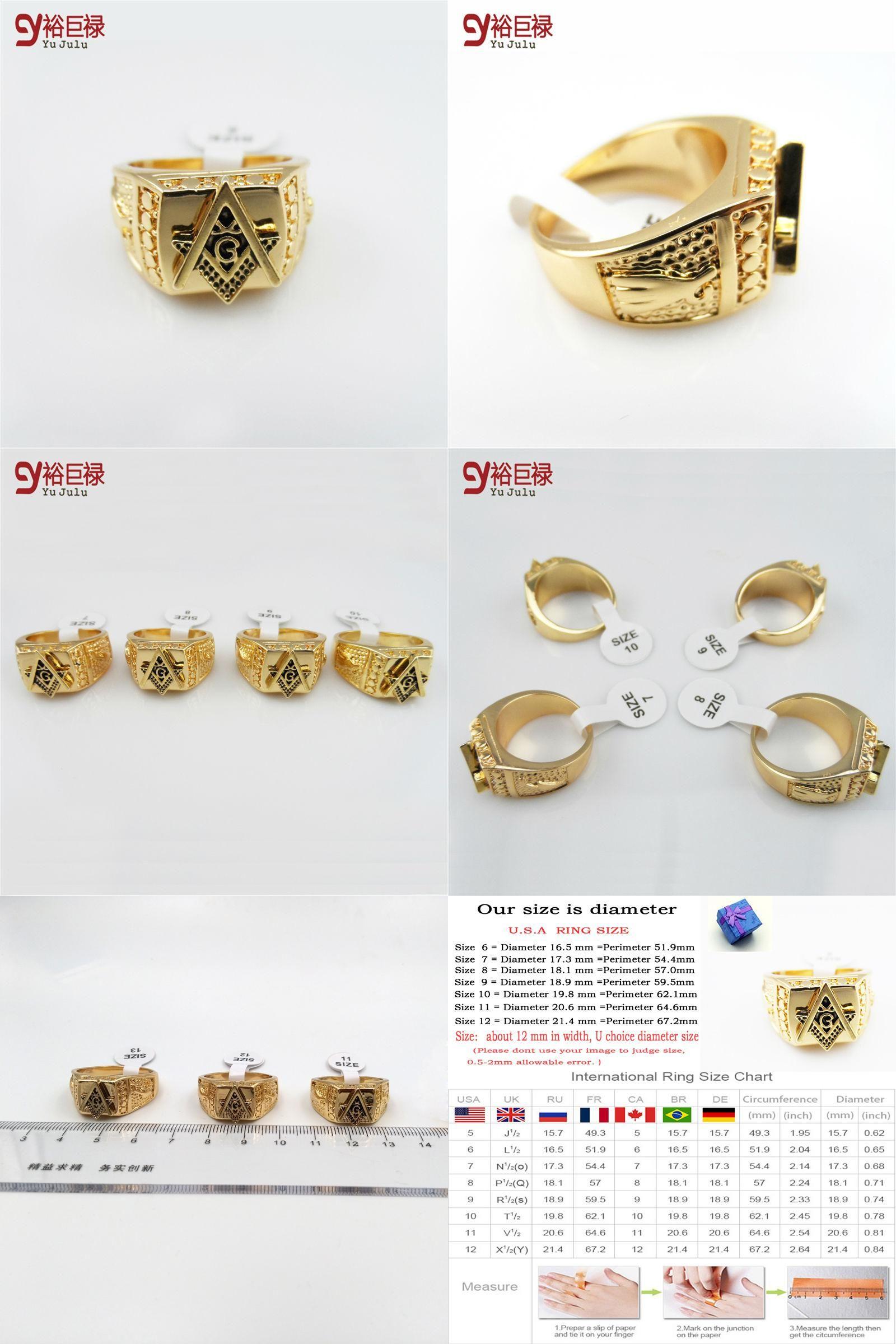 Visit to Buy] 2016 Men 24k Gold Metal Hip Hop Ring Golden Medusa