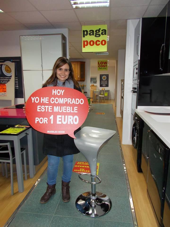 Ayer cristina r l se compr por solo 1 euro este taburete en nuestra tienda de muebles - Muebles boom 1 euro ...