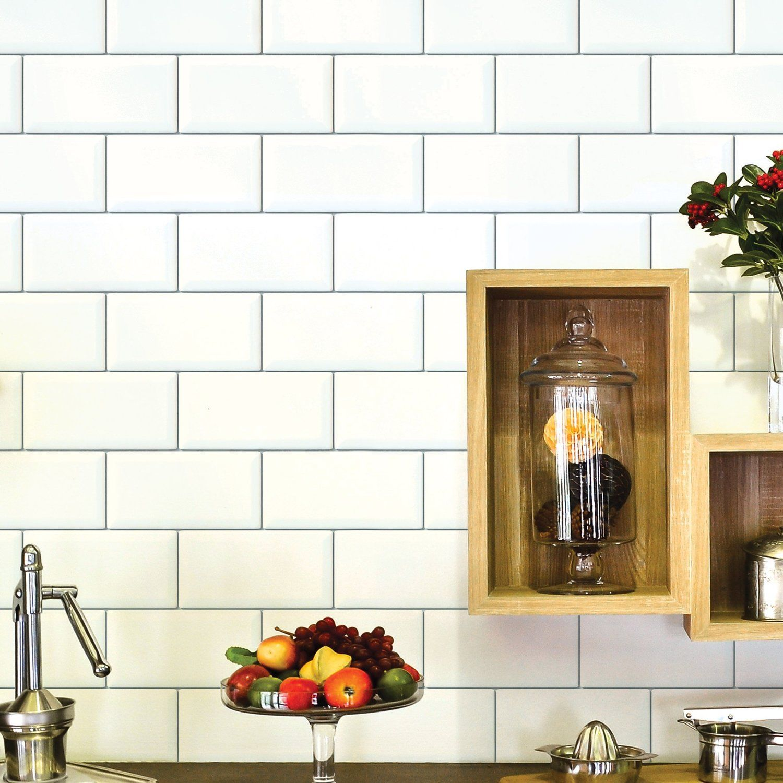 Amazon.com: Wallies Peel & Stick Vinyl Wall Decals, Subway Tiles ...