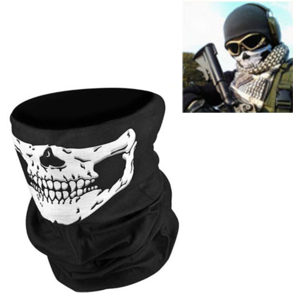 BLK Skeleton Ghost Skull Face Mask Biker Balaclava Costume Game