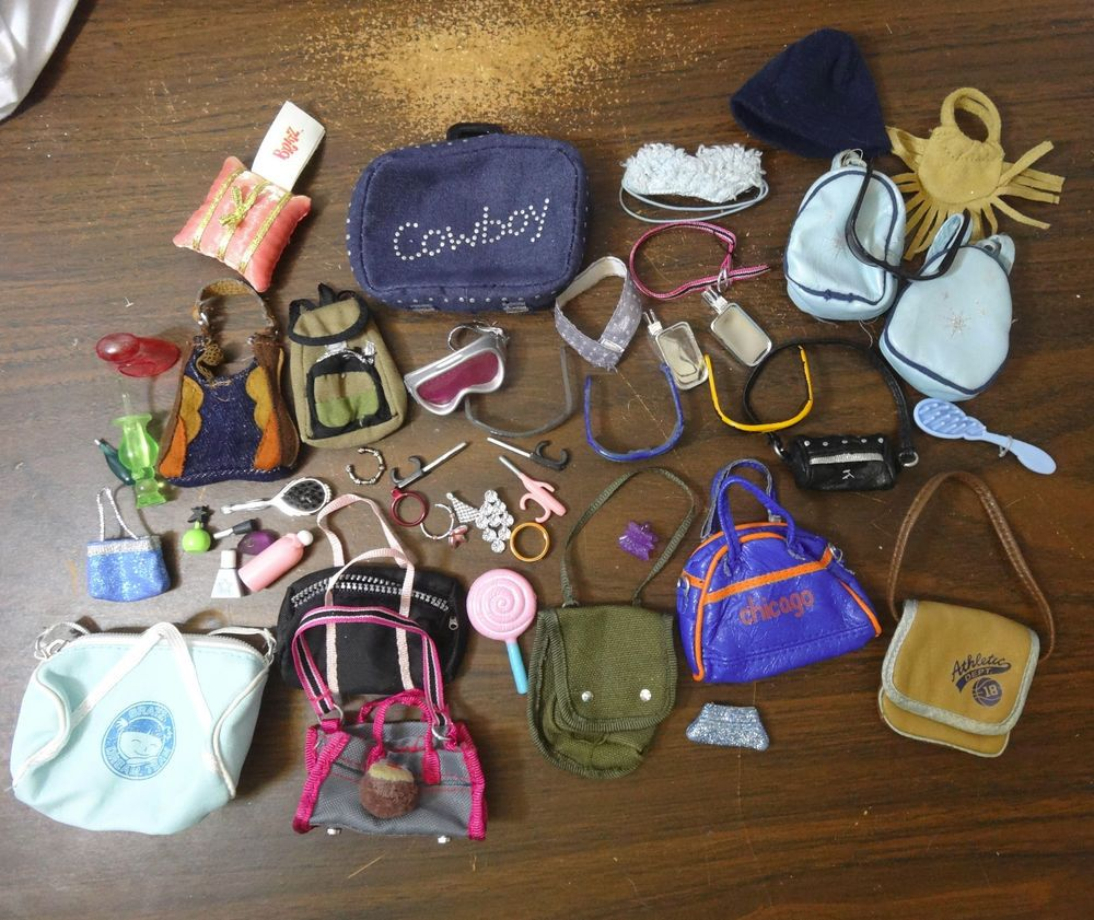 Details About Mga Bratz Doll Accessories Purses Sunglasses