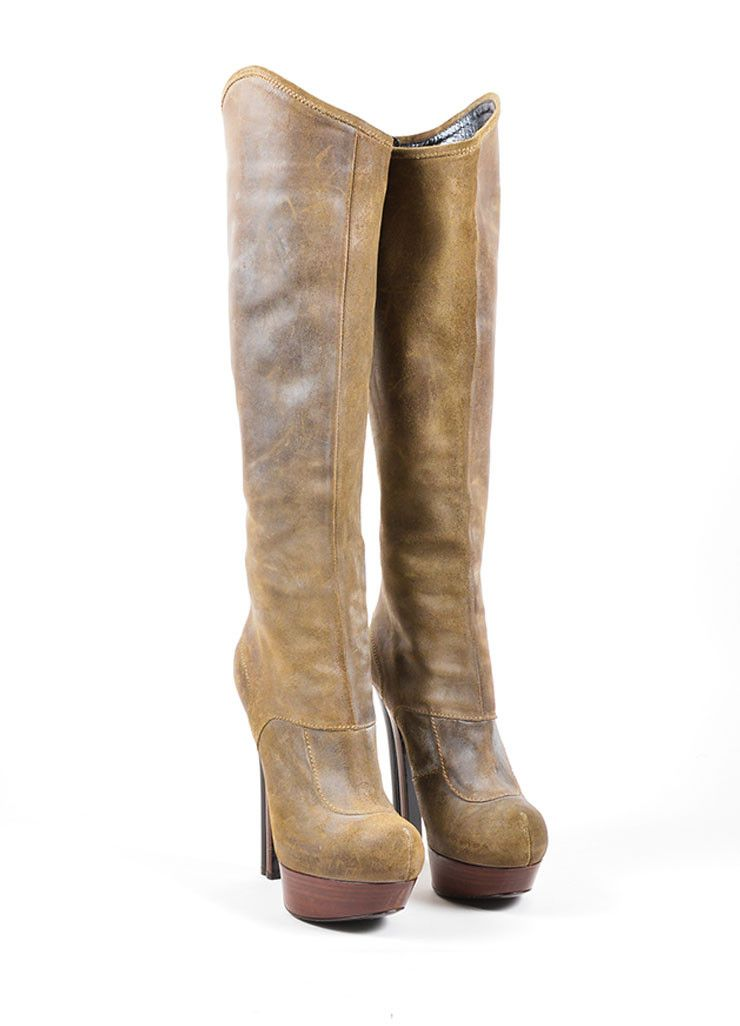 Fendi Distressed Leather Boots cheap sale marketable LLh75