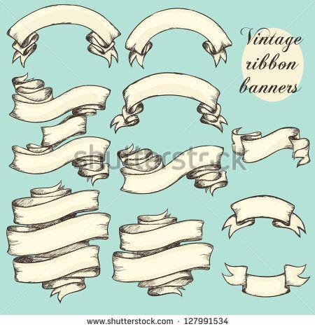 Retro Ribbon Scroll Vector Free Vector 4vector Graphics