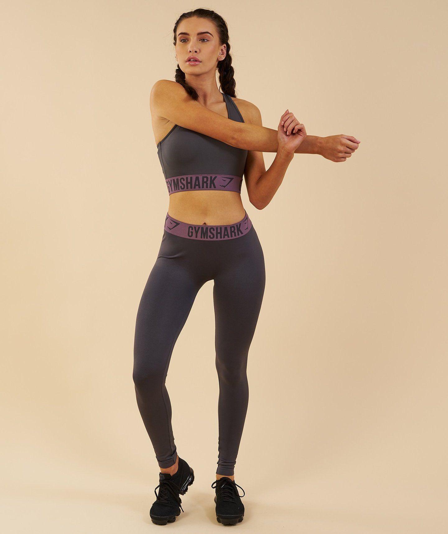 621414933f52d Gymshark Fit Leggings - Charcoal/Purple Wash   Homes