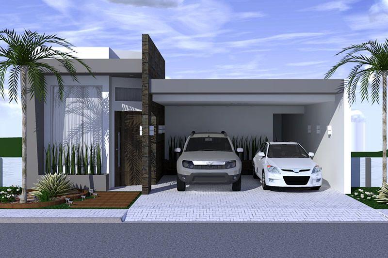 Planta de casa com ambientes integrados projetos de for Casas chicas modernas