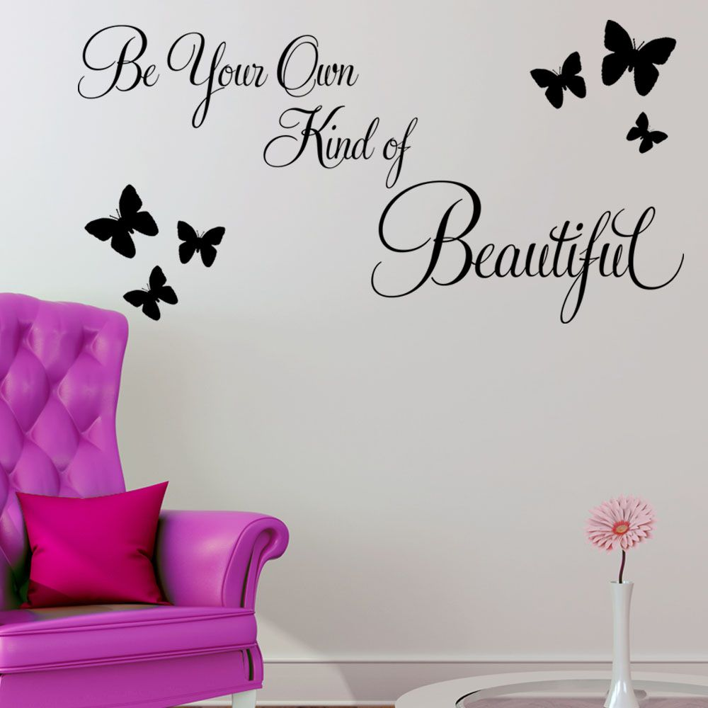 Be Your Own Kind Of Beautiful Wall Art be your own kind of beautiful wall sticker quote decals | tattoos