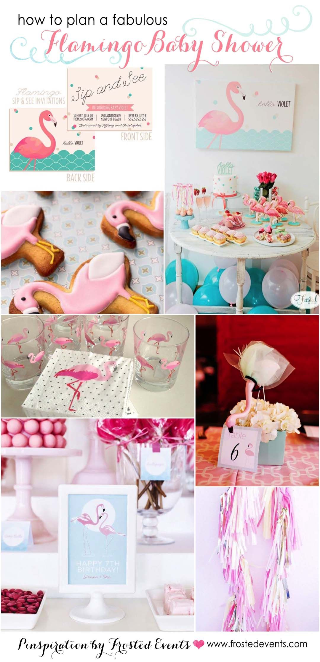Fabulous Flamingo Theme Baby Shower Inspiration Board Via Frosted Events  @frostedevents Pink Flamingo Party,