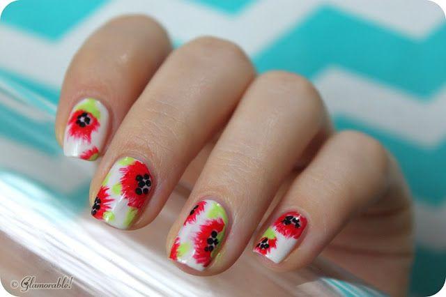 Mani Monday: Summer Flowers Nail Art | Glamorable! #nailpolish #nailart #manimonday #manicure