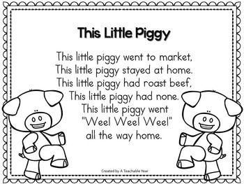This Little Piggy  Activities for ESL and Primary Students {Free}