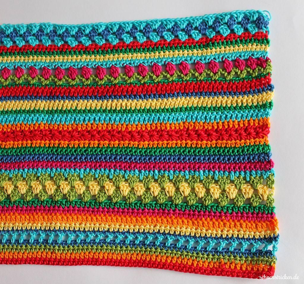 Crochet Along Regenbogen Babydecke Teil 4 | STRIPED ...