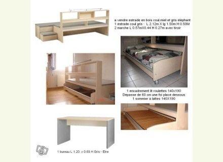 Estrade Pour Cacher Lit De 2 Personnes Lit Idees Pour La Maison Mobilier De Salon