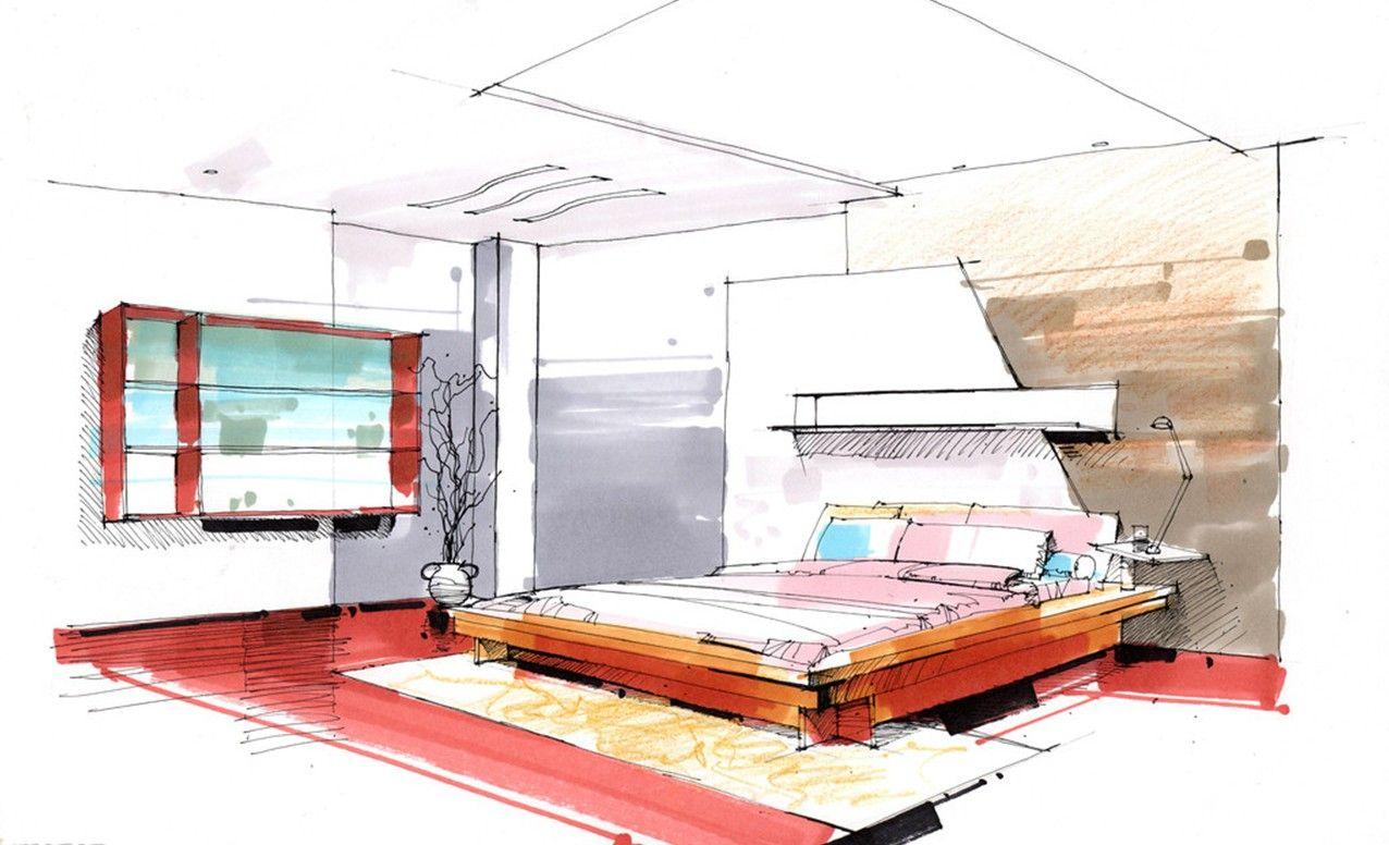 interior design bedroom sketches ilnX6sKYG Architecture Sketches