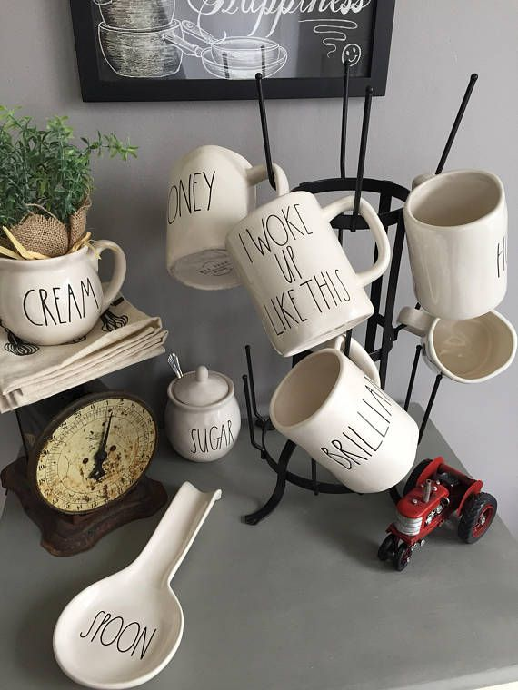Mug Rack Mug Tree Mug Holder Cup Holder Coffee Mug Rack Coffee Mug Holder Farmhouse Decor Farmhouse Kitchen Decor Mug Rack Coffee Mug Holder Mug Holder
