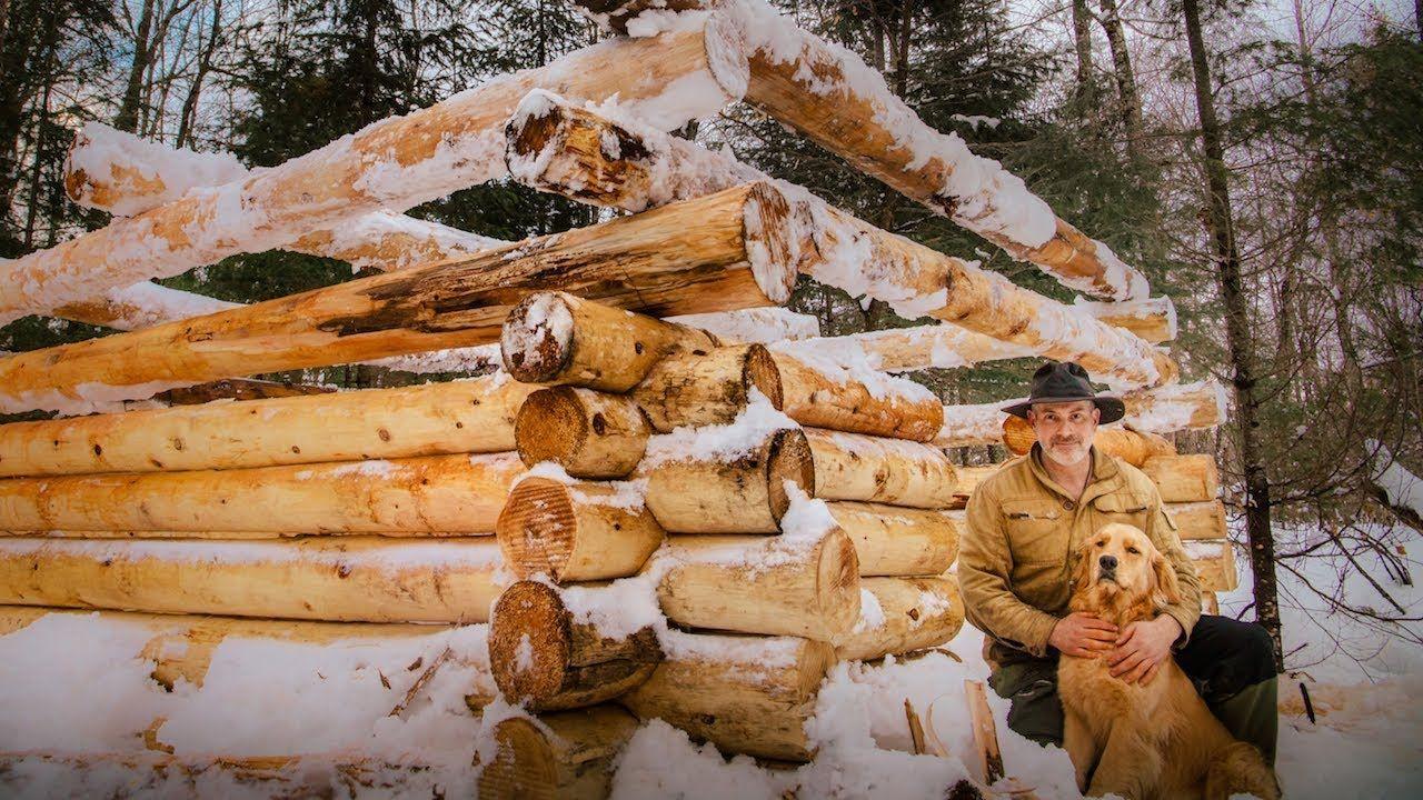 Building a Sauna with Frozen Logs Vanishing Way of Life