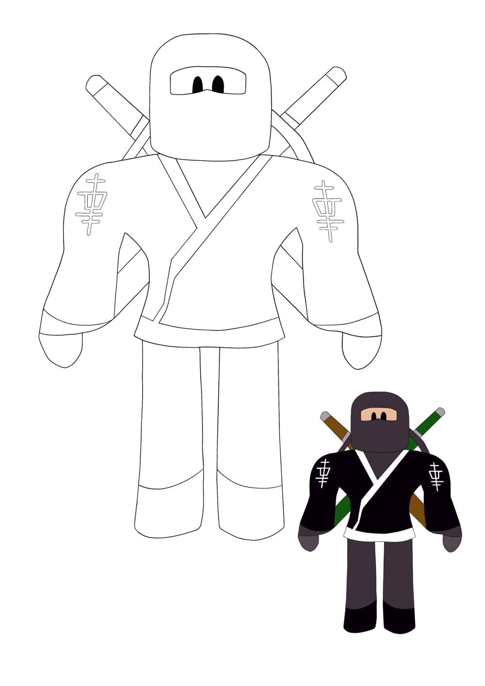 Roblox Ninja Coloring Pages 2 Free Coloring Sheets 2021 In 2021 Coloring Pages Free Coloring Sheets Free Coloring
