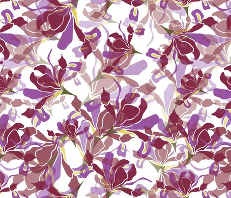 White Iris fabric by j_joanne on Spoonflower - custom fabric