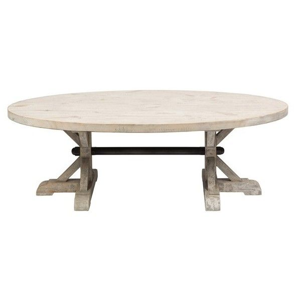 Kosas Home Kosas Collections Palle Oval Coffee Table (3.250 DKK) ❤ Liked On  Polyvore