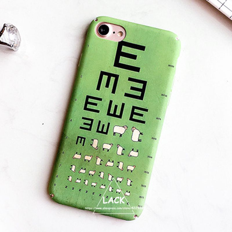 Cute Cartoon Eminem Eye Chart Case For Iphone 6 Case For Iphone 6s 7