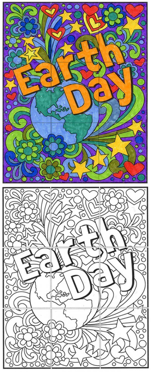 Free Earth Day Mini Mural With Images Kolorowanki Dzien Ziemi Ekologia