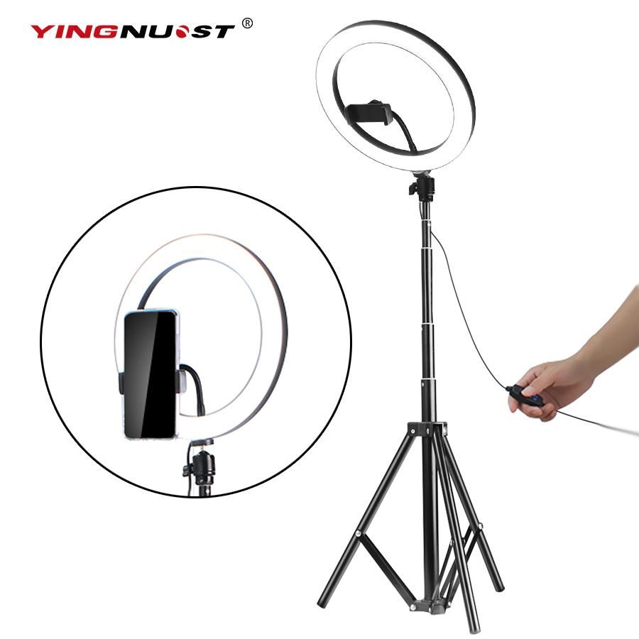 5600k Led Ring Light 10inch 26cm Lamp Dimmable Photography Studio Phone Video With 150cm Tripod Selfie Stick Usb Plug For Led Ring Light Led Ring Selfie Stick