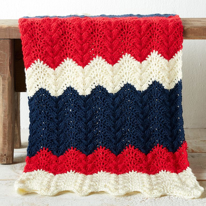 STRIKING Patriotic American Afghan//Crochet Pattern INSTRUCTIONS ONLY