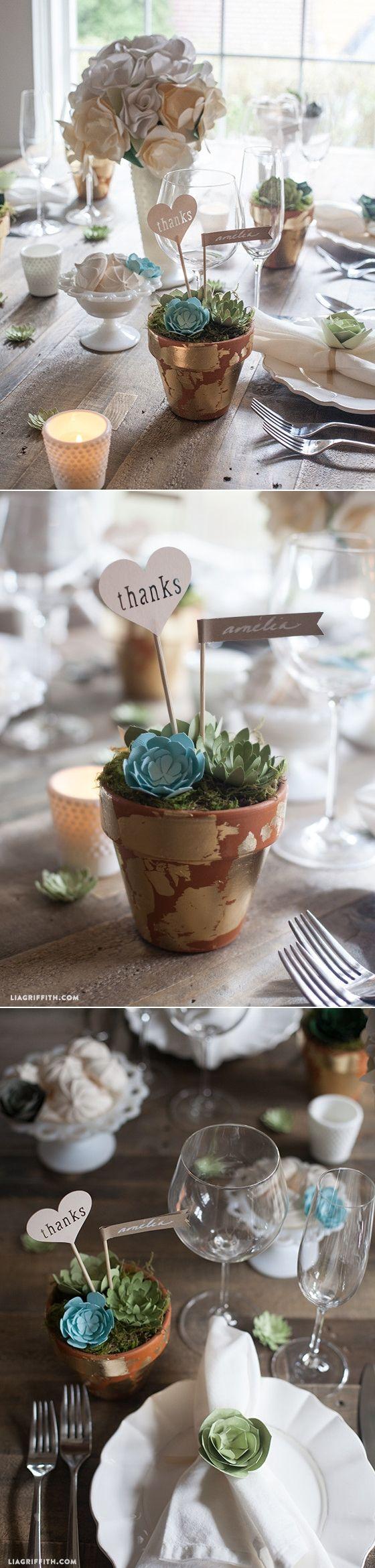 Diy wedding favors paper succulent pots diy wedding favors and
