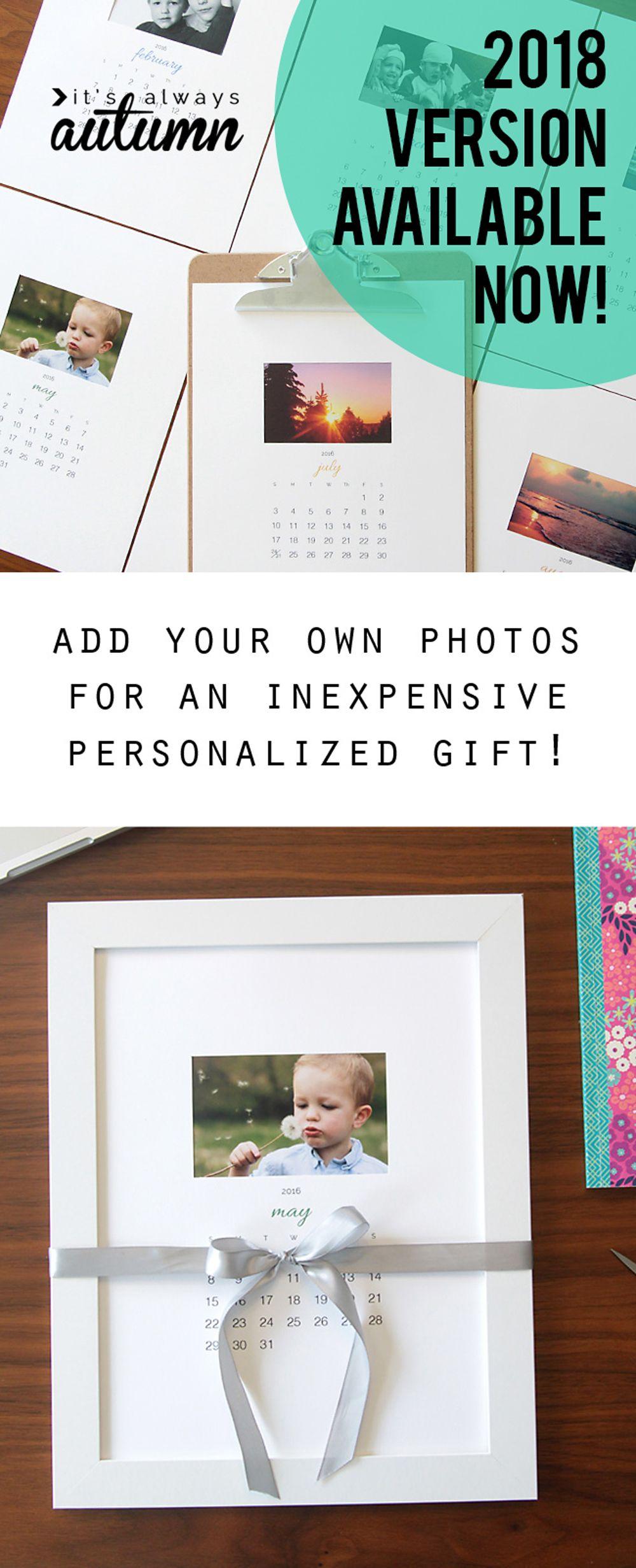 free printable 2018 photo calendar easy diy gift photo calendar