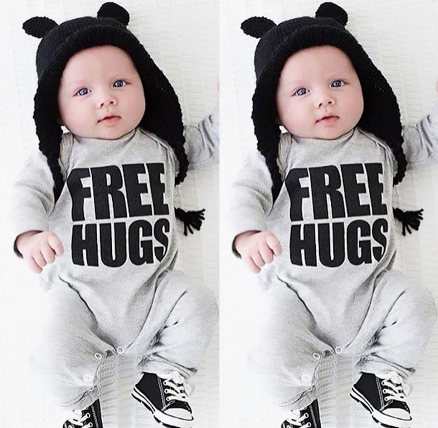 9c0e98efc 2016 Bebés Varones Recién Nacidos Ropa Del Mameluco Caliente de Manga Larga  Mamelucos Del Bebé Del Mono Trajes NUEVOS en de en AliExpress.com | Alibaba  ...