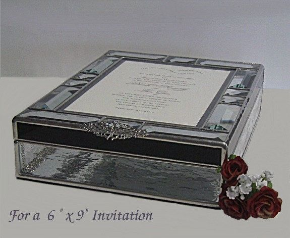 Stained Glass Wedding Invitation Keepsake Box For A 6 X 9 13500