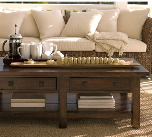 Benchwright Rectangular Coffee Table Rustic Mahogany Home Decor Home Projects Home