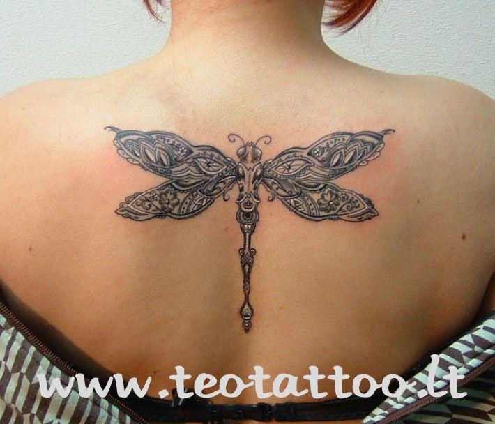 Scottish Tattoo Ideas Wrist: Celtic Dragonfly Tattoo On Back