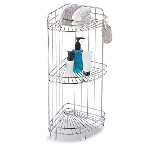Neu Home 3-Tier Corner Shower Caddy, Multicolor | Corner shower ...