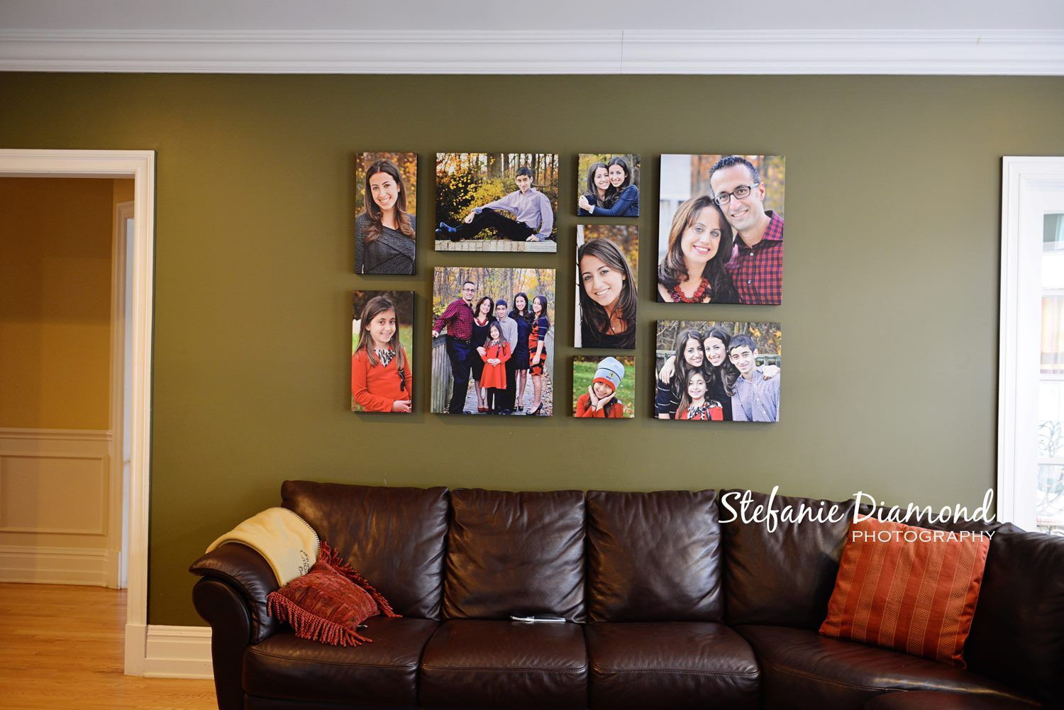This grouping is composed of 2 10x10 3 10x20 2 16x20 2 for Travel gallery wall ideas