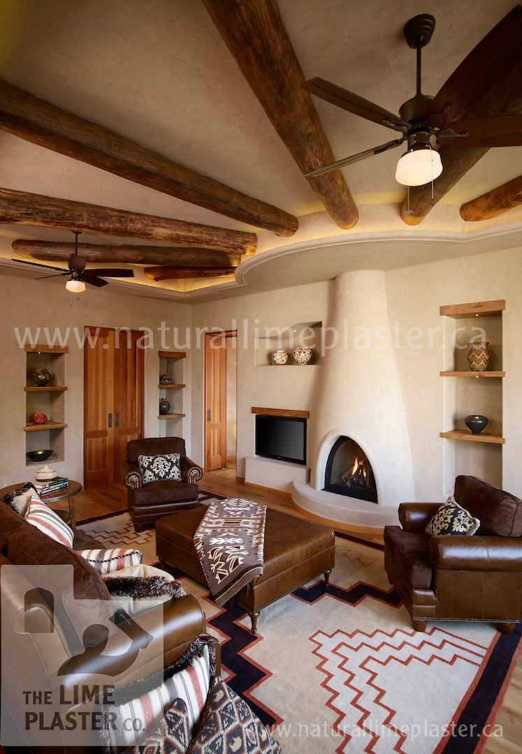 My future home, I love this style. Made with American Clay plaster ...