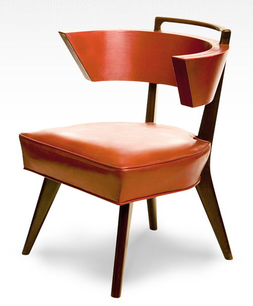 1949 Conference Chair In Polished Tooled Red Leather