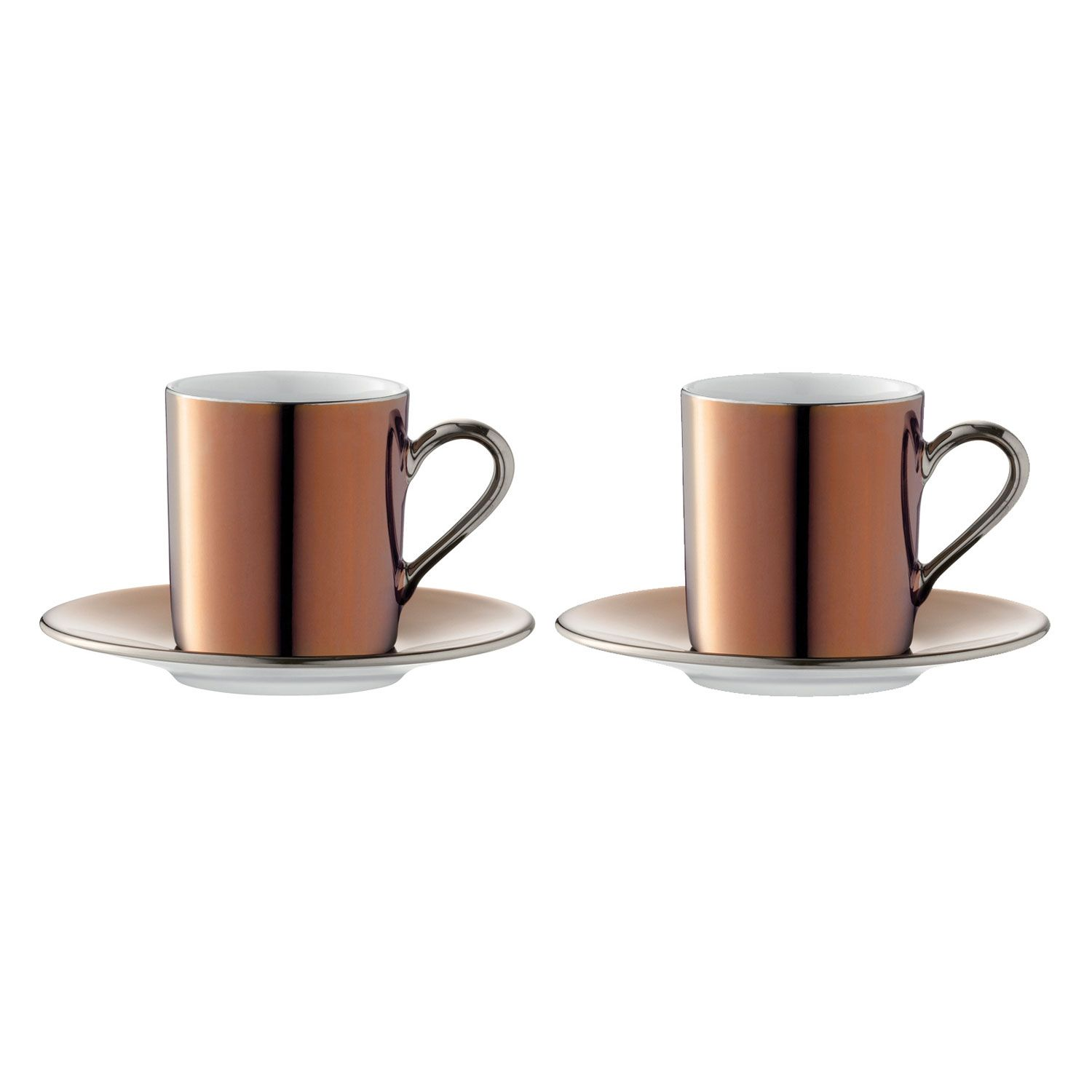 LSA Remi Copper Coffee Cup & Saucer Set Of 2 | Mugs and Tea Cups | L ...