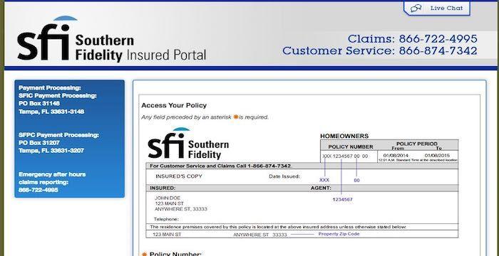 Southern Fidelity Insurance Bill Pay Online Login Customer