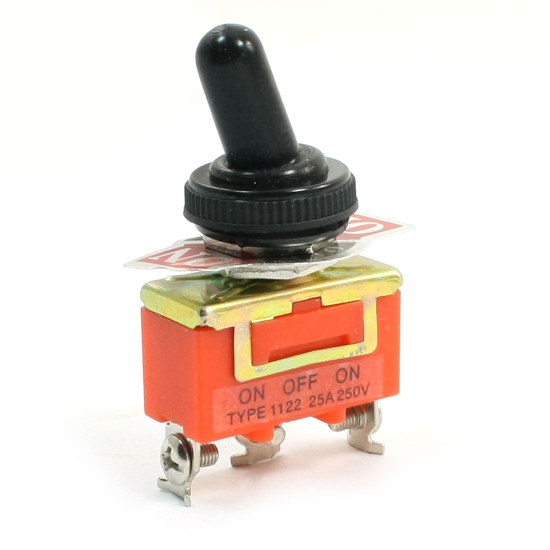 Uxcell 250v 25amp Spdt Latching Rocker Type 3 Position Toggle Switch Lighted Spst 25a 12v W Cover 2pin 3pin