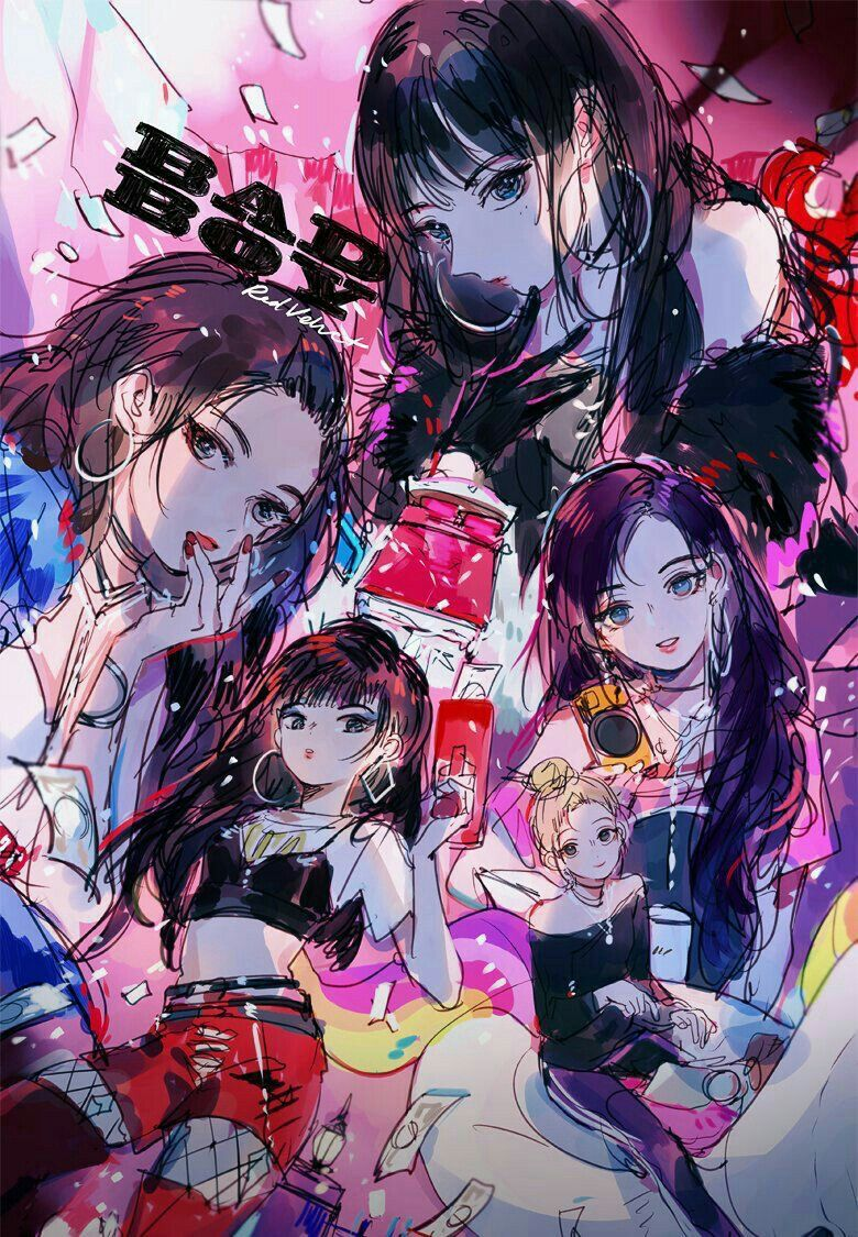 Bad Boy Fanart Velvet Wallpaper Red Velvet Red Velvet Joy