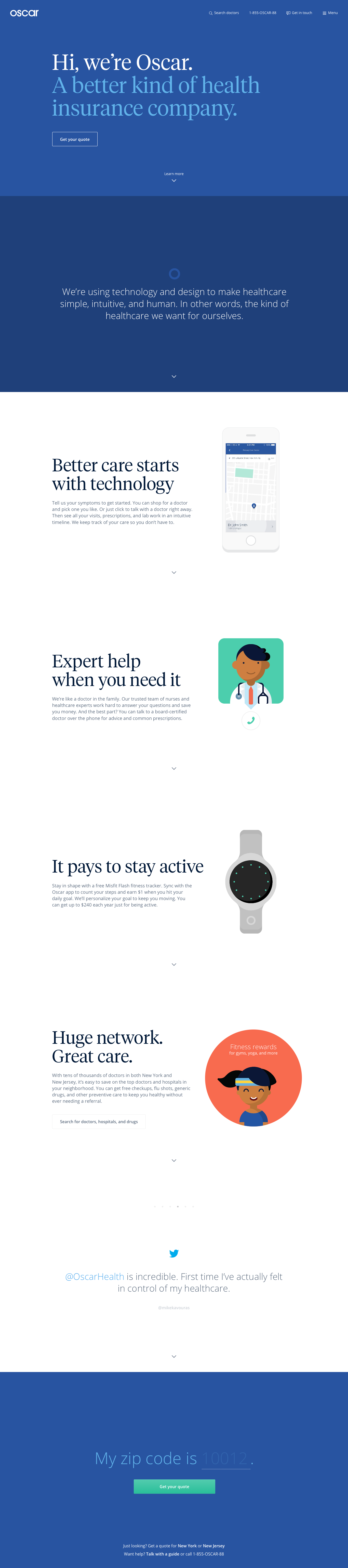 Oscar Health Insurance Tech Design And Experience Really Smart