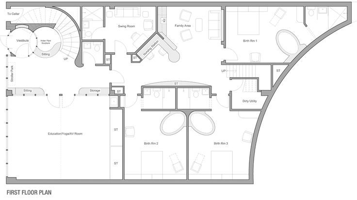 Maternity Center Floor Plan Google Search Birth Center Room Hospital Design Birth Center