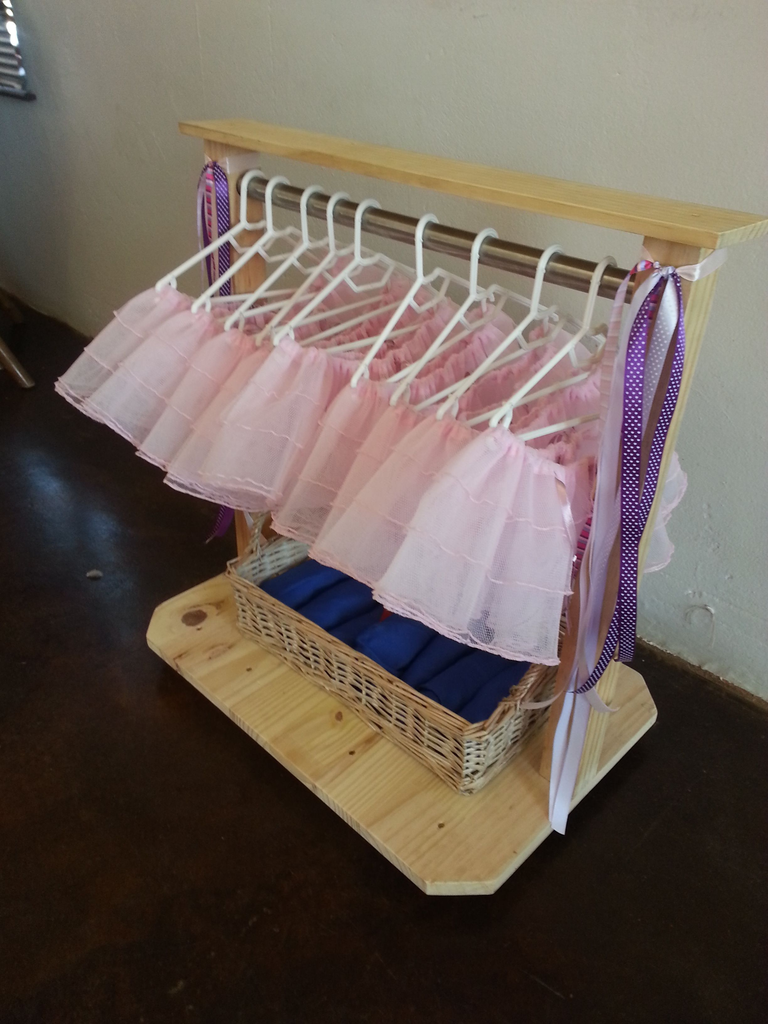 Ballet tutu's for each guest and superhero capes for the boys!