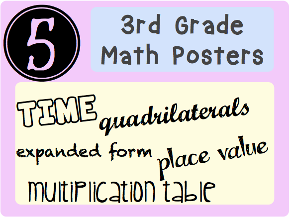 5 Math Posters For Upper Elementary Time Quadrilaterals Expanded