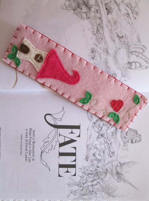 Felt Bookmark Fairy House Birthday Gift Fantasy Tale