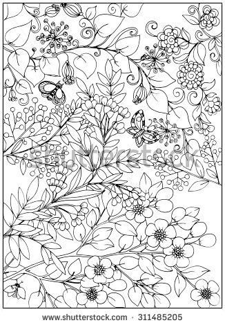 florest art therapy coloring pages - Pesquisa Google | dekorace ...