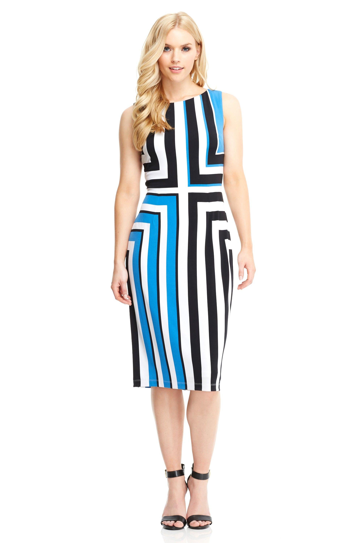 The Cynthia Midi Soft White Blue Main Maggy London Dresses For Work Fashion