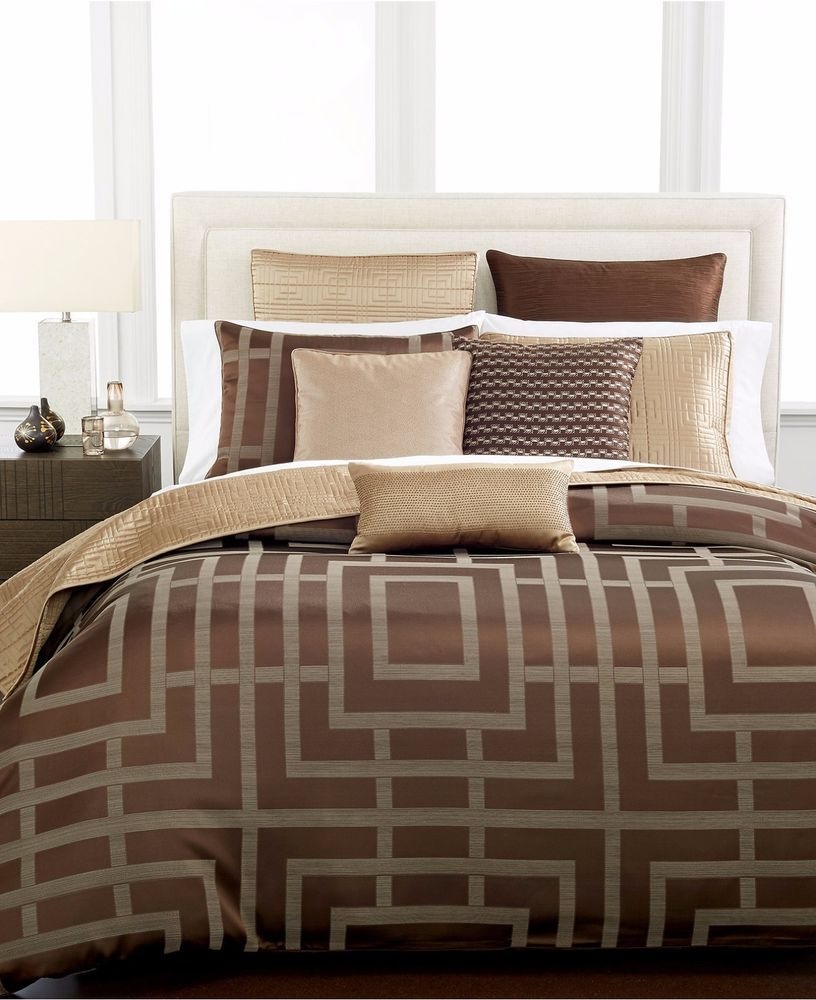 hotel collection savoy espresso brown full queen duvet comforter cover 285