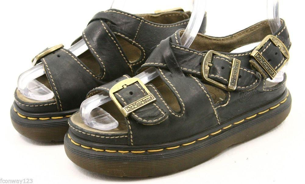 Dr Martens doc womens Sandals size 5 black leather