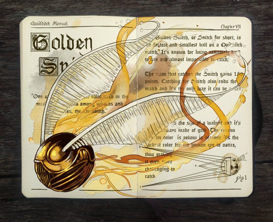 Gabriel Piccolo - Harry Potter Notebook Golden Snitch