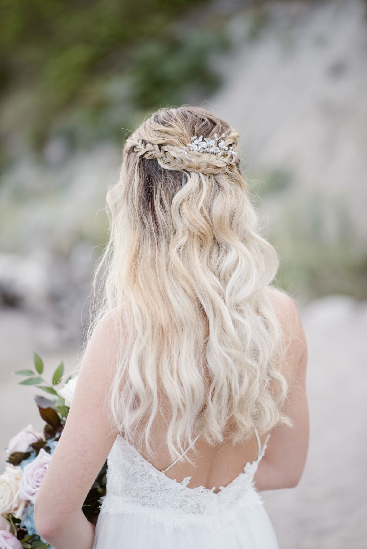 Dreamy Misty Blue And Burgundy Beach Wedding Inspiration Prom